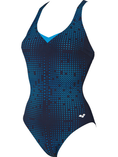 arena Gina Light Cross Back One Piece Swimsuit Women navy-turquoise